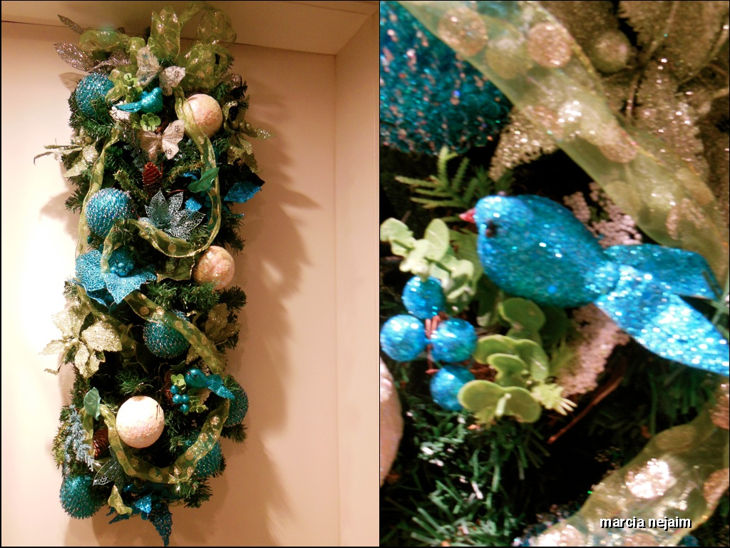 decoracao arvore de natal azul:natal azul1