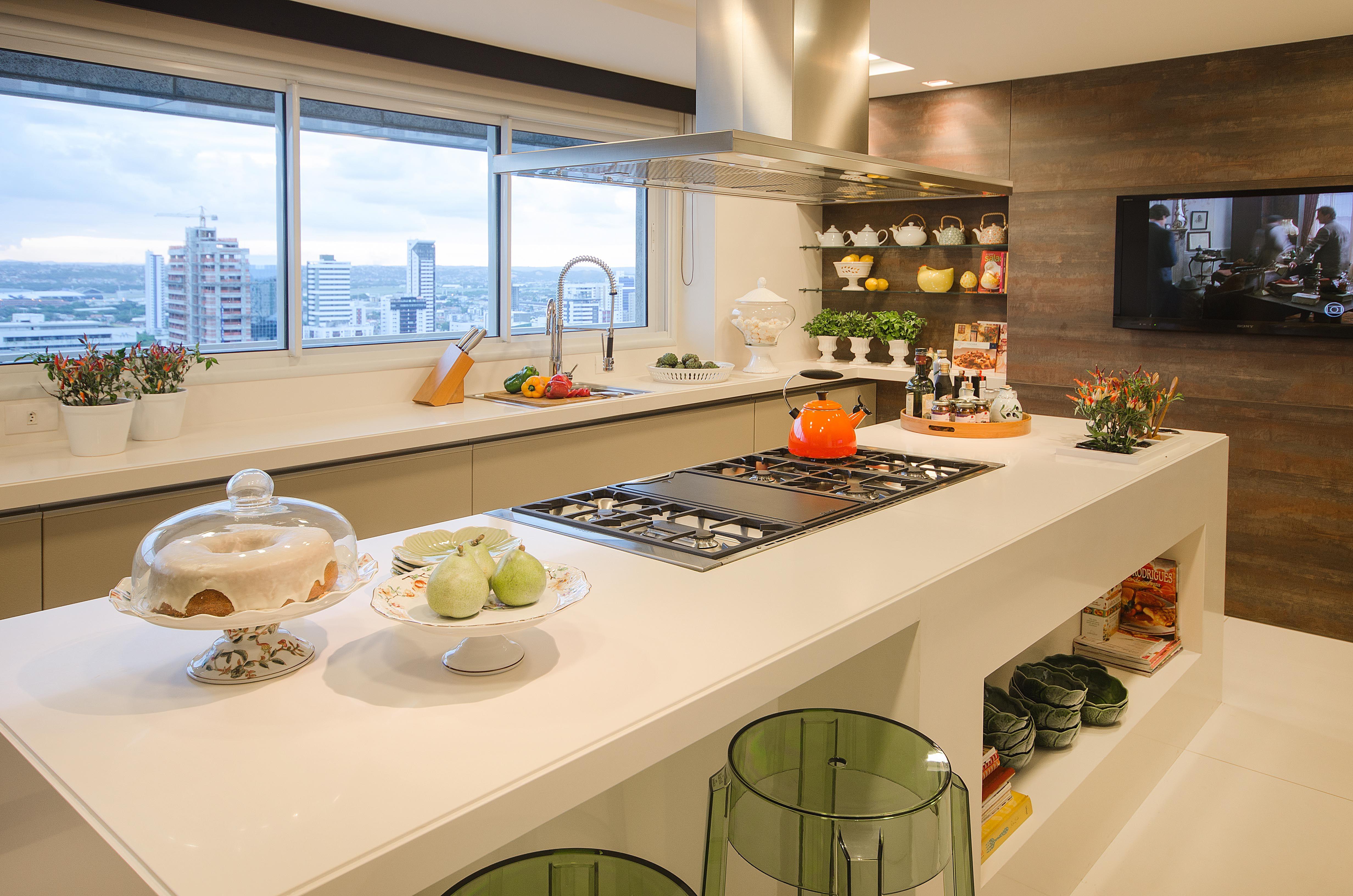 #A56826 cozinhas com ilha marcia nejaim 4928x3264 px Altura Ideal Para Balcão De Cozinha Americana #1775 imagens
