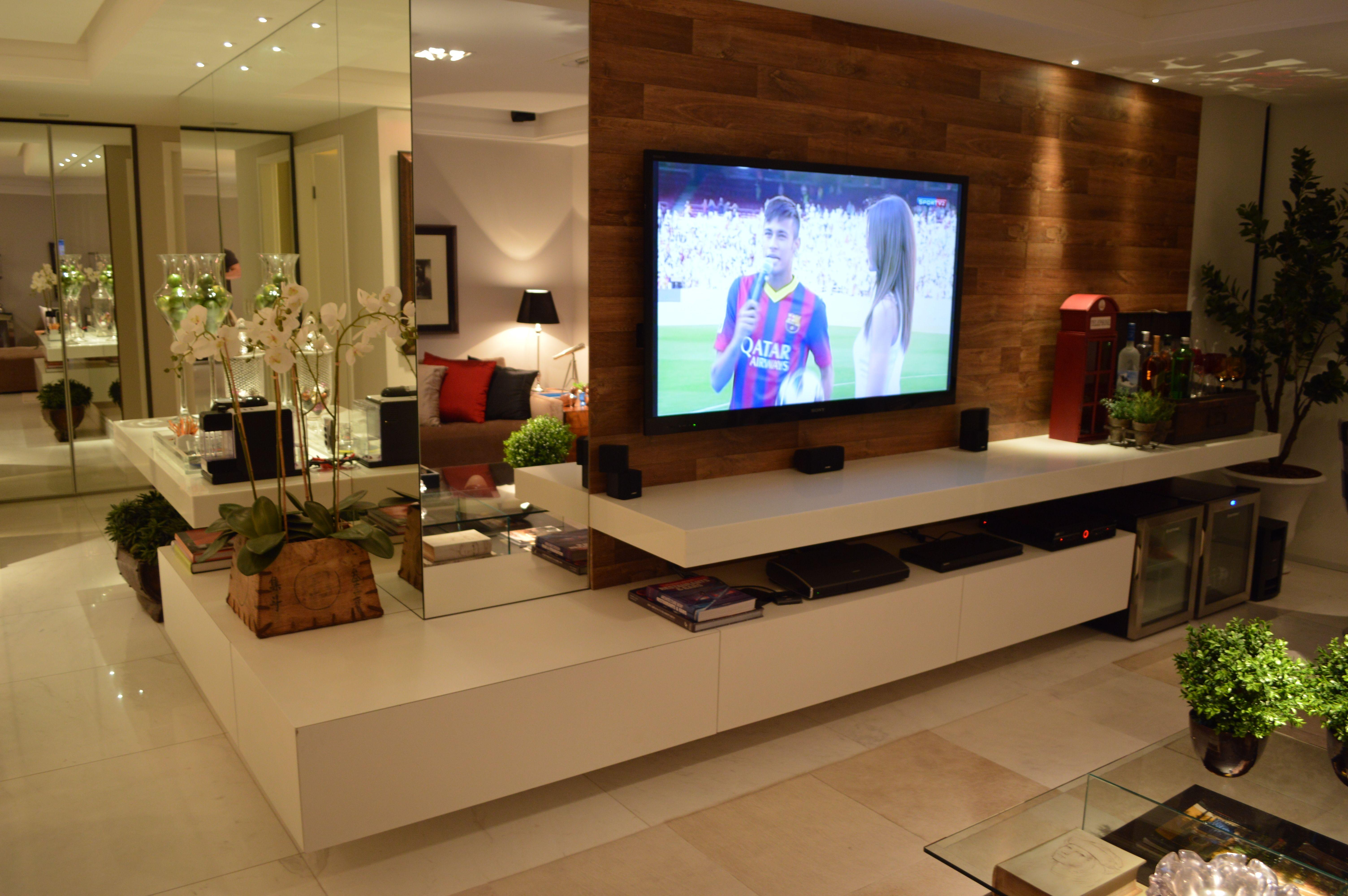Decoracao Sala Tv Na Parede ~  decoração diferente na sala # decoracao de sala tv na parede