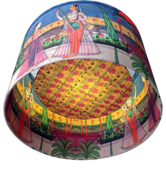 kerrie-brown-indian-princess-with-lute-lampshade